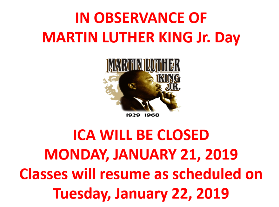 Martin Luther King Holiday Announcement